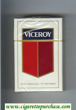Discount Viceroy Cigarettes Rich Tobaccos - Filter Kings hard box