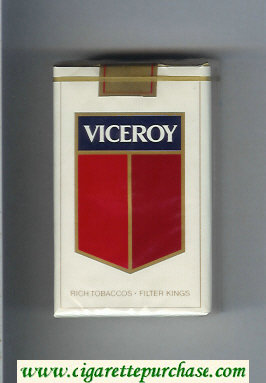 Discount Viceroy Cigarettes Rich Tobaccos - Filter Kings soft box