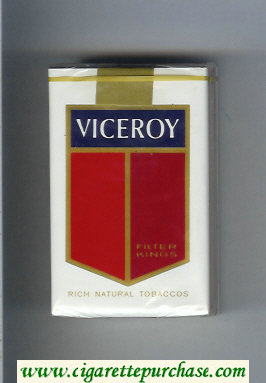Discount Viceroy Filter Kings Cigarettes Rich Natural Tobaccos soft box