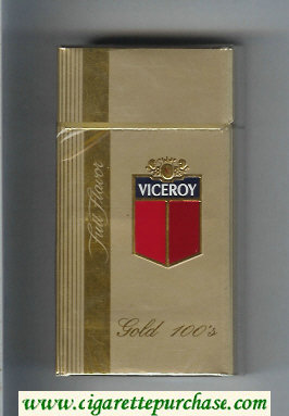 Discount Viceroy Full Flavor Gold 100s Cigarettes gold hard box