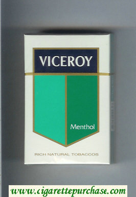 Discount Viceroy Menthol Rich Natural Tobaccos Cigarettes hard box