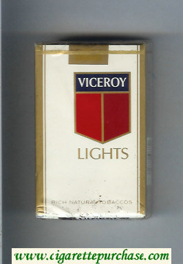 Discount Viceroy Lights Rich Natural Tobaccos soft box Cigarettes
