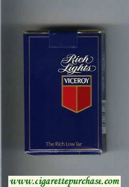 Discount Viceroy Rich Lights blue Cigarettes soft box