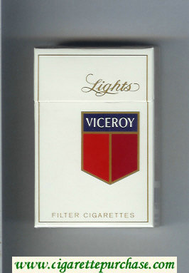 Discount Viceroy Lights Filter Cigarettes hard box