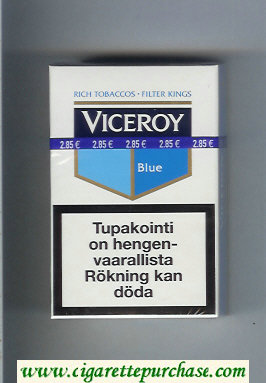 Viceroy Blue Rich Tobaccos - Filter Kings Cigarettes soft box