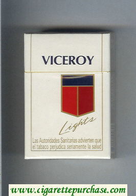 Viceroy Lights Cigarettes hard box