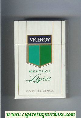 Viceroy Menthol Lights Cigarettes hard box