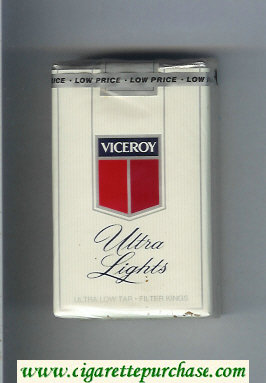 Viceroy Ultra Lights Cigarettes soft box