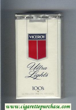 Discount Viceroy Ultra Lights 100s Cigarettes soft box