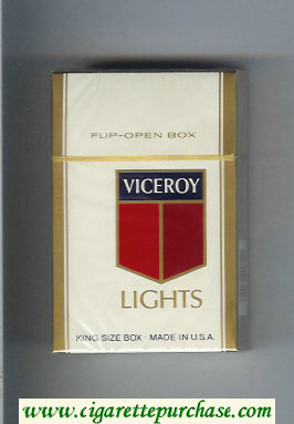 Discount Viceroy Lights Cigarettes hard box