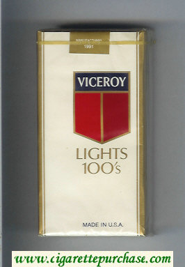 Viceroy Lights 100s Cigarettes soft box