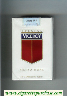 Discount Viceroy Special Filtro Dual Cigarettes soft box