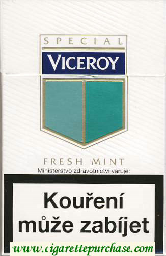 Discount Viceroy Fresh Mint Cigarettes hard box