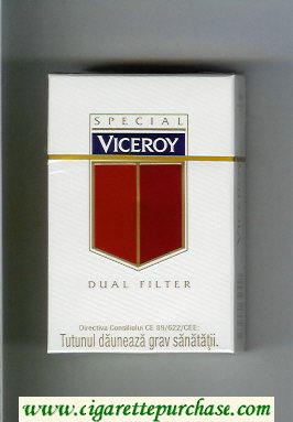 Viceroy Special Dual Filter Cigarettes white and red hard box