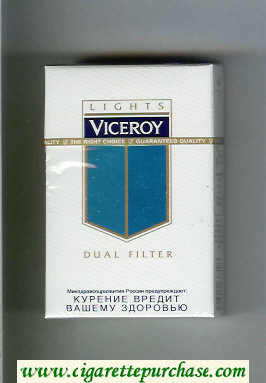 Viceroy Lights Dual Filter Cigarettes hard box