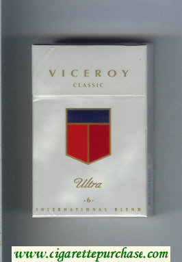 Discount Viceroy Ultra Classic -6- International Blend Cigarettes hard box