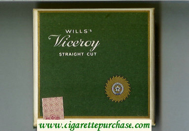 Viceroy Wills Straight Cut cigarettes wide flat hard box