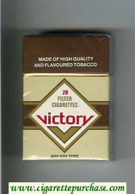 Victory cigarettes grey and brown hard box