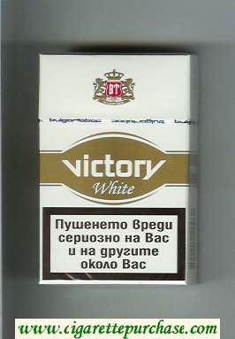 Victory White cigarettes hard box