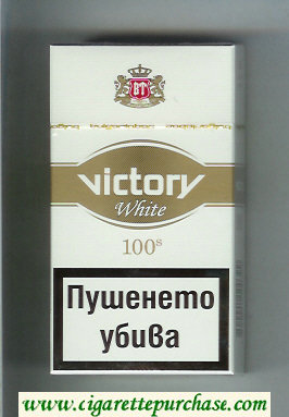 Victory White 100s cigarettes hard box