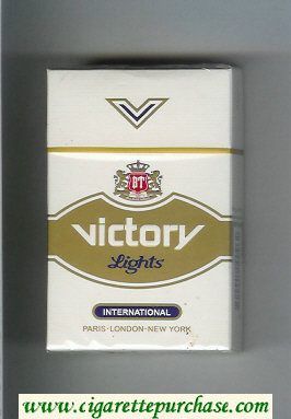 Victory Lights International cigarettes hard box