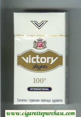Victory Lights 100s International cigarettes hard box