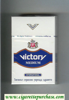 Victory Medium International cigarettes hard box