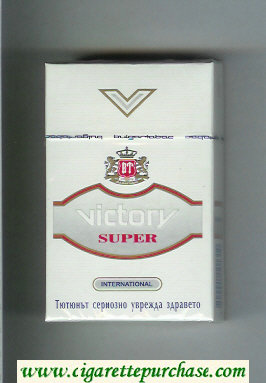 Victory Super International cigarettes hard box