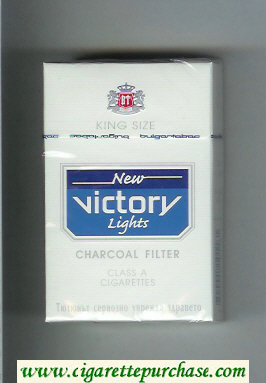 Victory New Lights Charcoal Filter King Size cigarettes hard box