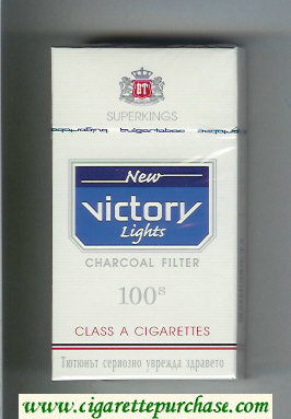 Victory New Lights Charcoal Filter 100s Superkings cigarettes hard box