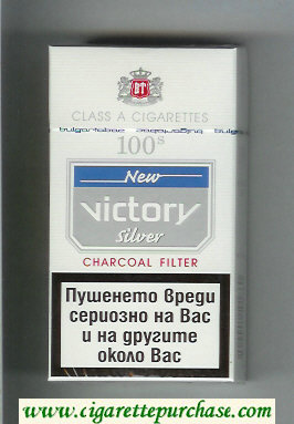 Victory 100s New Silver Charcoal Filter cigarettes hard box