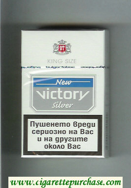 Victory New Silver King Size cigarettes hard box