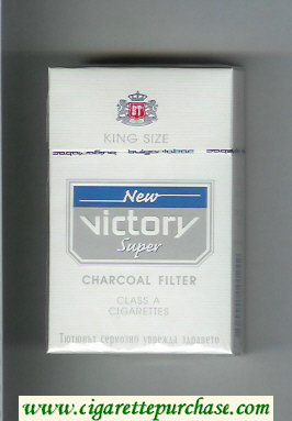 Victory New Super Charcoal Filter King Size cigarettes hard box