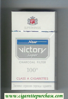 Victory New Super Charcoal Filter 100s cigarettes hard box