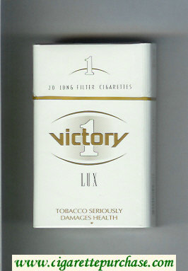Victory 1 Lux cigarettes hard box