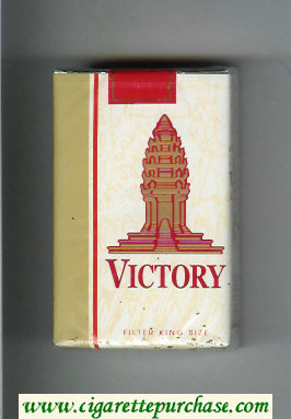 Victory cigarettes white and gold soft box