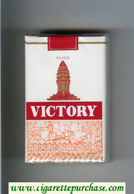 Victory cigarettes white and red soft box