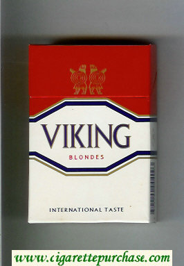 Viking Blondes International Taste cigarettes hard box