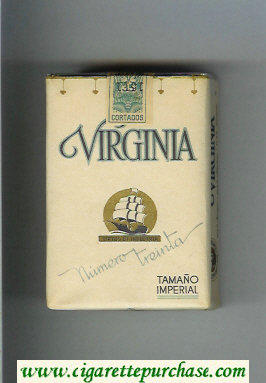 Virginia Numero Trenta Tamano Imperial cigarettes soft box