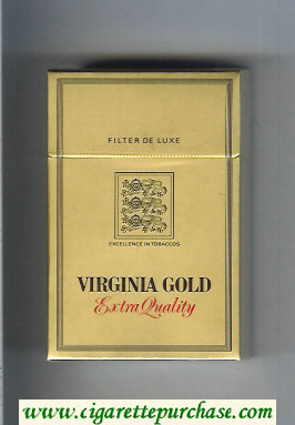 Virginia Gold Extra Quality cigarettes hard box
