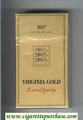 Virginia Gold Extra Quality 100s cigarettes hard box