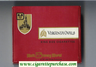 Virginia Ovals King Size cigarettes wide flat hard box
