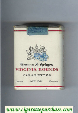 Virginia Rounds Benson and Hedges cigarettes soft box