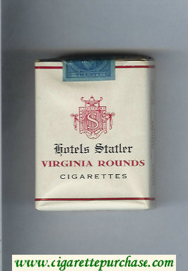 Virginia Rounds Hotels Statler cigarettes soft box