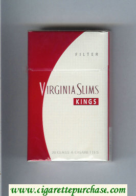 Virginia Slims Kings Filter cigarettes hard box