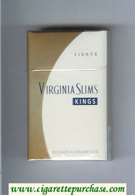 Discount Virginia Slims Kings Lights cigarettes hard box