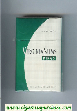 Discount Virginia Slims Kings Menthol cigarettes hard box