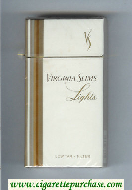 Virginia Slims Lights 100s Filter cigarettes hard box