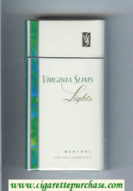 Virginia Slims Lights Menthol 100s cigarettes hard box