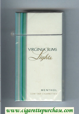 Virginia Slims Lights 100s Menthol cigarettes hard box